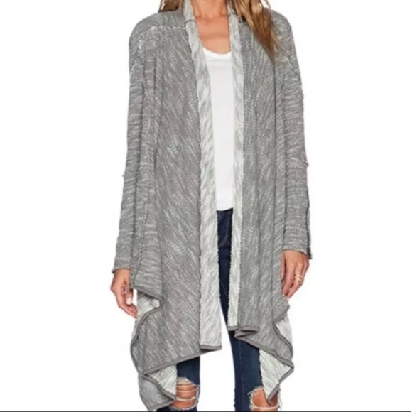 Free People Sweaters - Free People In The Loop Drape Front Cadigan L